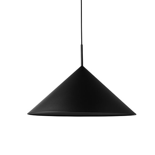Metal Triangle Pendant Lamp - Matt Black