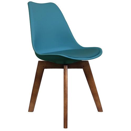 Walnut Scandi Style Dining Chair - Walnut Square leg -Colours+