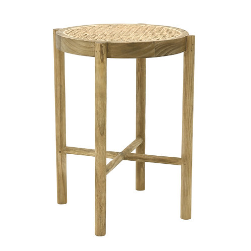 Japandi Natural Cane stool or side table