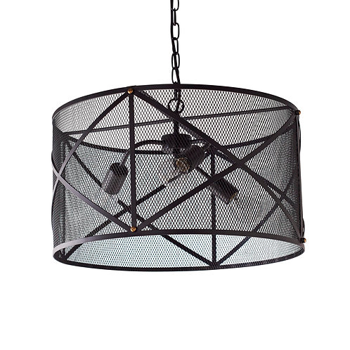 Industrial Mesh Cage Black Ceiling Pendant
