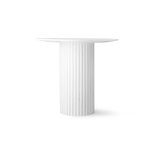 White Round Pillar Side Table.