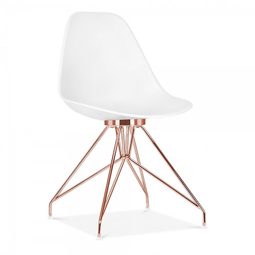 Milano Dining Side Chair, Copper or Gold leg