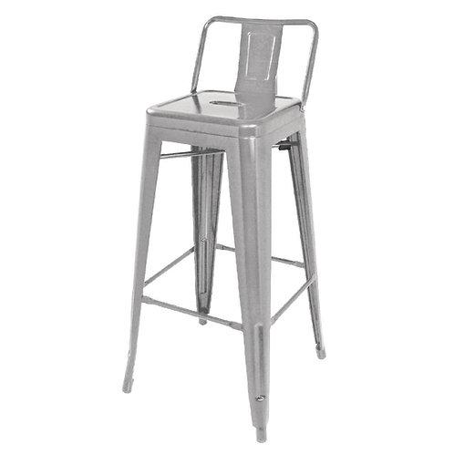 Set 4 - Silver Industrial Bar Stool