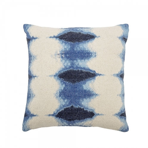 Navy Blue Cotton Tie Dye Cushion
