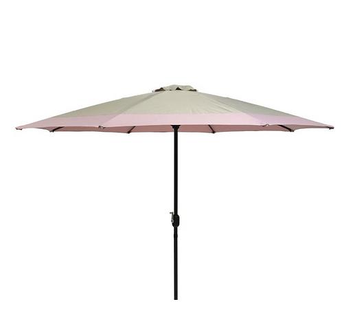 Cream Pink Garden Parasol