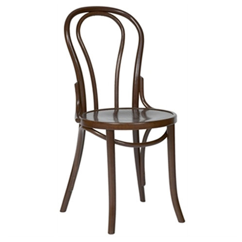 Dark Wood French Cafe Dining Chairs - Set of 2 - COLOURS+