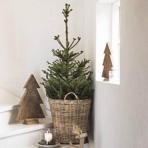 Hand Woven Rattan Christmas basket