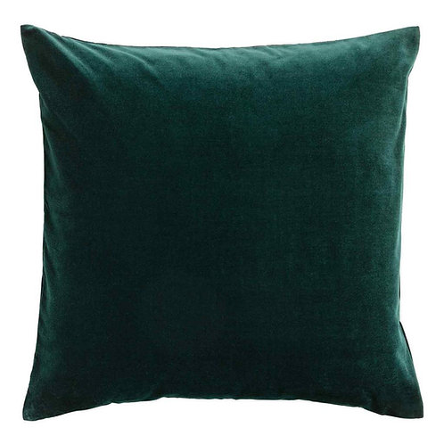 Emerald Green Cotton Velvet Cushion