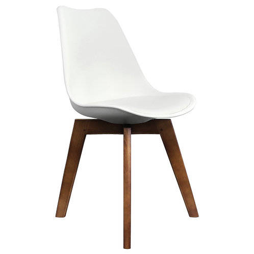 Scandi Style Dining Chair - Walnut Square Base -Colour
