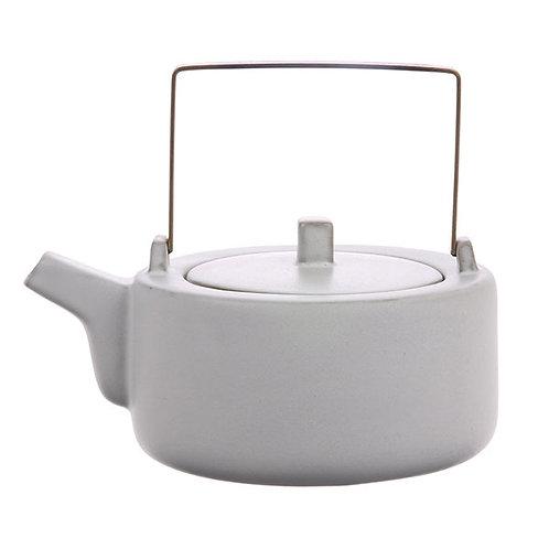 White Ceramic Bamboo Teapot