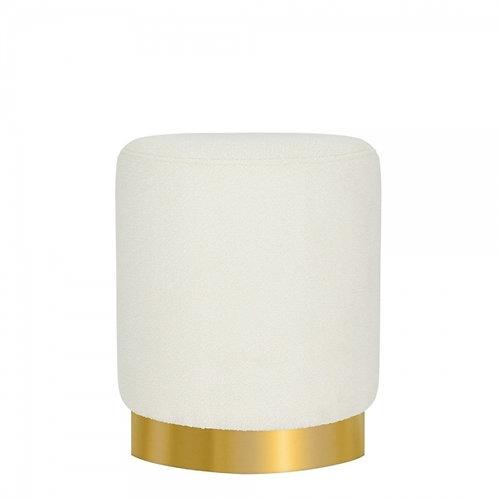 Boucle Tulsi 42cm Stool - Gold base