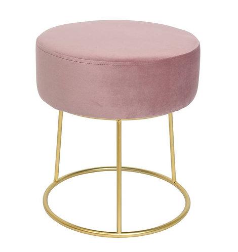 Pink Velvet Bedroom Stool