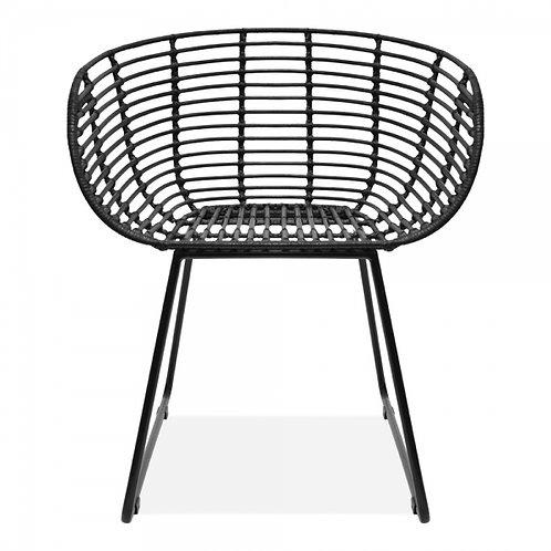 Tikki Dining Chair Black Rattan