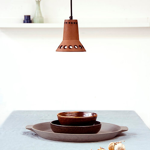 Terracotta Flower Pendant Lamp