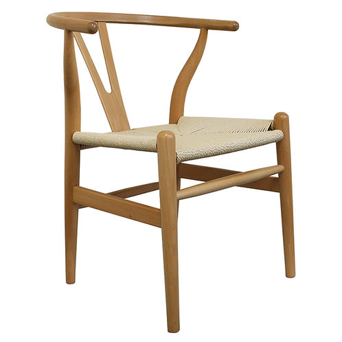 Wishbone Dining Chair - Natural - Wood Scandi Style