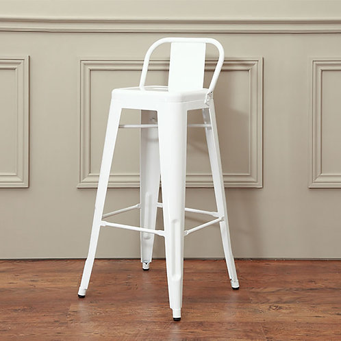 White Industrial Bar Stool