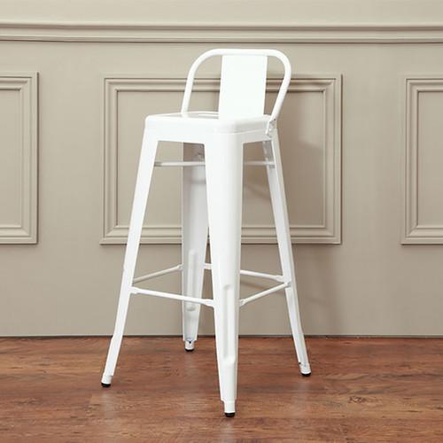 white industrial bar stool
