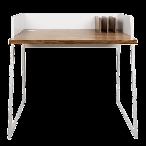 Malmo White Walnut Desk bureau-Ideal compact size 90cm wide