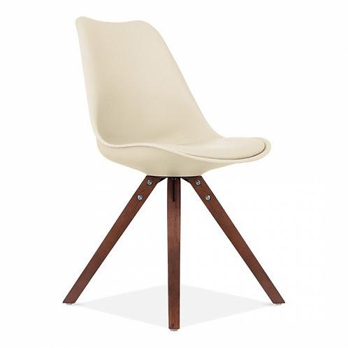 Set x 4 Walnut Colour Dining Chair, Scandinavian Style