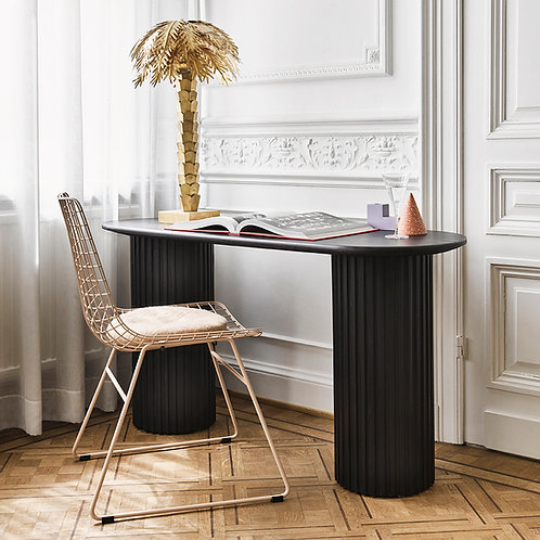 Mesh Dining Chair, Peach, Black or White Metal Chair