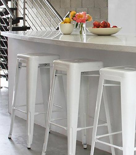 White Urban Style Bar Stool Set Of Four