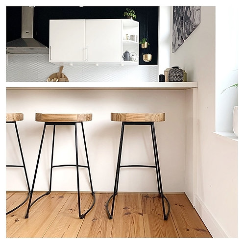 Stockholm Stool vintage metal Leg base +Colours