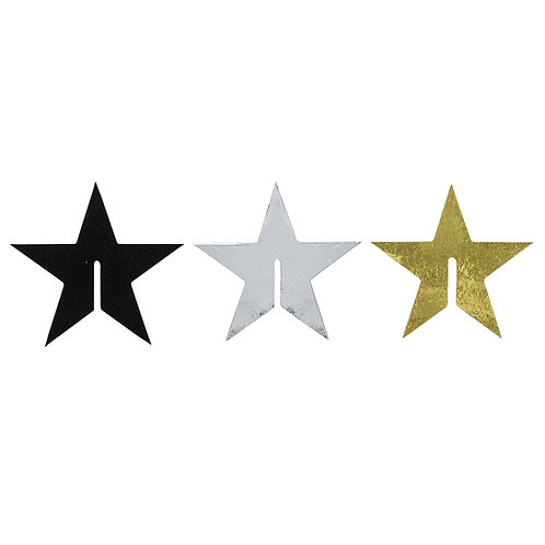 Cocktail Star Set - 24pcs - Black, Silver, Gold