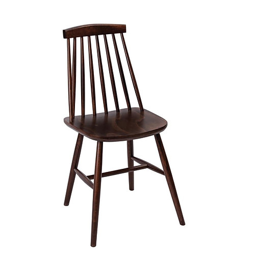 Windsor Dining Chair - Set of 2 White, Dark or Nat Wood Dining or Kitchen Chair