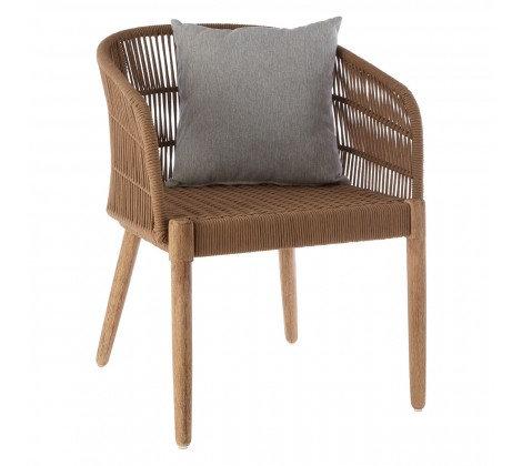 Amalfi Garden Dining Chair - Natural with pillow