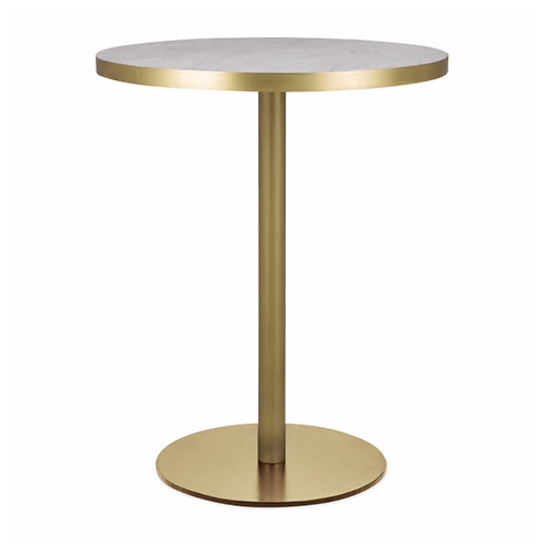Round Brass Marble Brompton Cafe Table