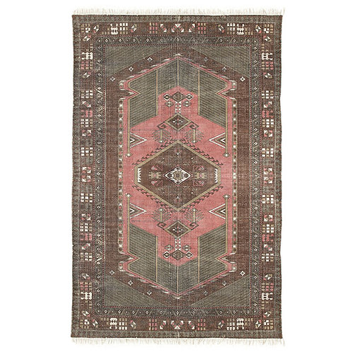 Coral Ottoman Style Stonewashed Rug 120 x 180