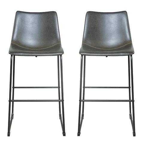 Laila Island Counter Stool -Charcoal Grey - Set of 2