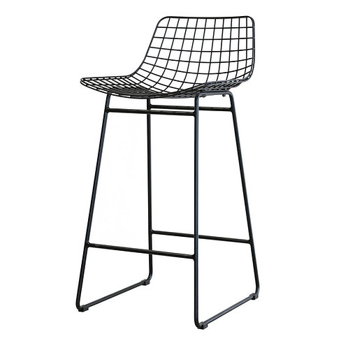 Black Modern Bar Stool, Scandi Mesh Bar Stool