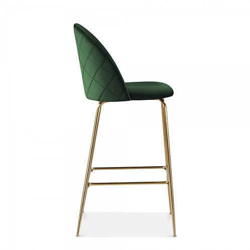 Forest Green Velvet - bar stool, velvet upholstered