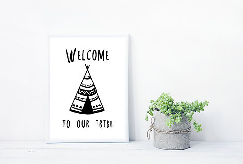 Framed Art Print - Welcome to our Tribe