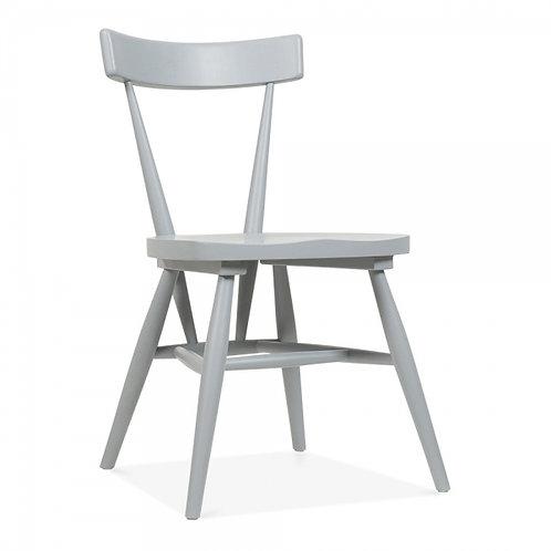 Zen - Birch wood stackable dining chair - Grey