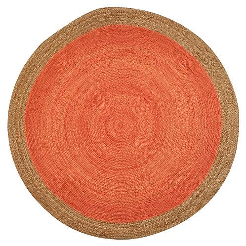 Natural Jute Circular Rug - Apricot