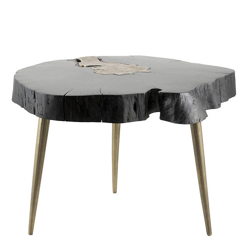 Kintsugi Black & Gold Side Table - 2 x Sizes