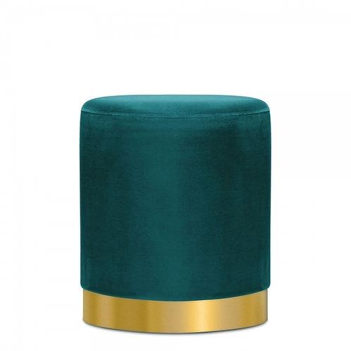 Teal -Velvet Tulsi 42cm Stool - Gold base