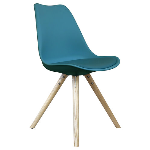 Colour Dining Chair, Scandi Pyramid Style, Nat Leg
