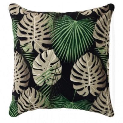 Monstera Velvet Cushion