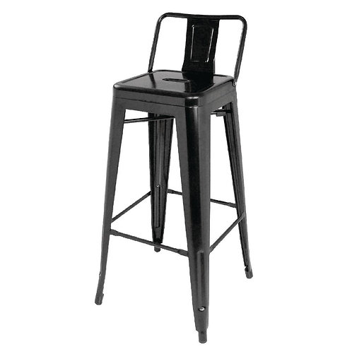 Set 4 - Black Industrial Bar Stool