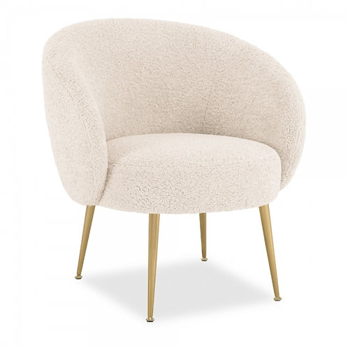 Cream Boucle Accent Chair