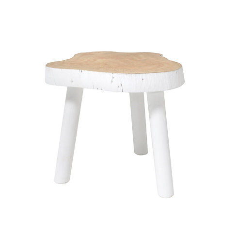 Natural White Tree Stool table