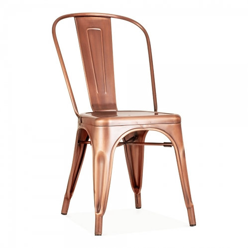 Copper Industrial Style metal dining side chair