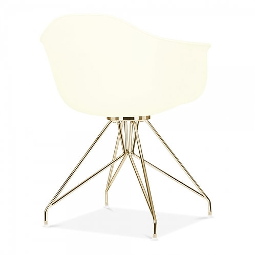 Milano Dining Arm Chair with Gold leg