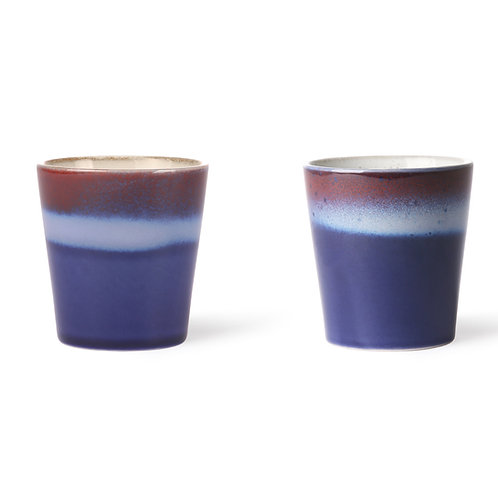 Blue Air Pottery Mug Set 2 /180ml