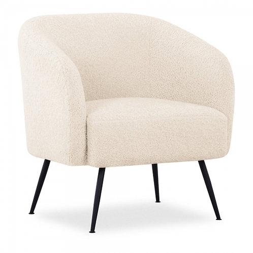 Teddy Cream Black Boucle Accent Chair