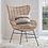 Thumbnail: Rattan Egg Wing Chair
