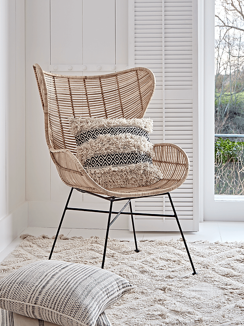 Rattan Egg Wing Chair